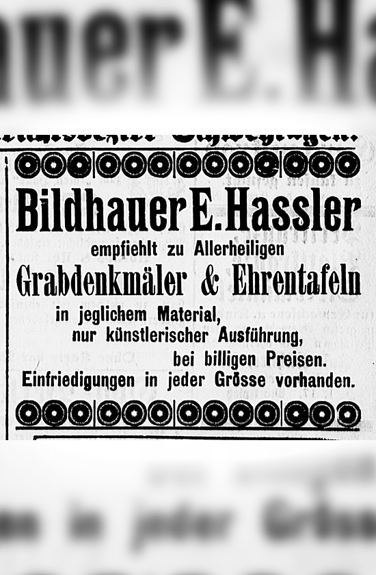 1907 - Annonce E Hassler