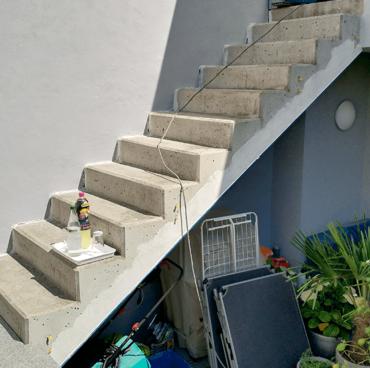 Menzel Treppe aus Nero Impala Vorher