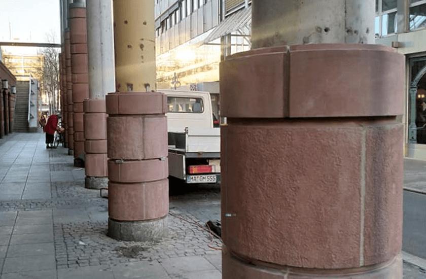 Stadthaus Mannheim - Sandsteinverkleidung 01